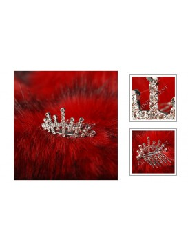 Flowery Age Series Crystal Decorative Comb---Ice Queen