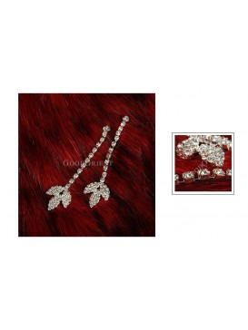 Sparkling Stars Earring Series---Small Leaf