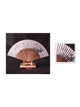 Red-crown Crane Bamboo Fan