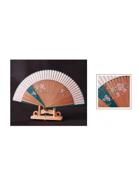 Green Hand Painted Caval Vine Fan