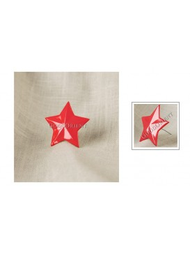 Red Five Pointed Star Memorial Badge