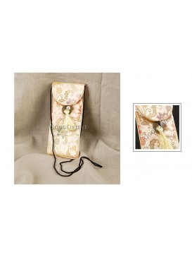 Pale Golden Floral Brocade Glasses Bag