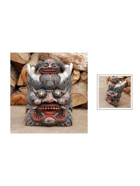 Tibetan God with Slivery Horn Nuo Drama Mask