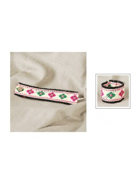 Miao Style Colorful Cloth Bracelet---Diamond Shape