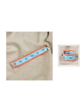 Miao Style Colorful Cloth Bracelet---Daisy