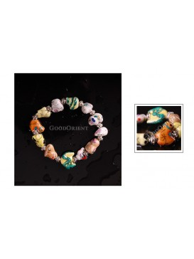Chinese Colored Zodiac Porcelain Bracelet