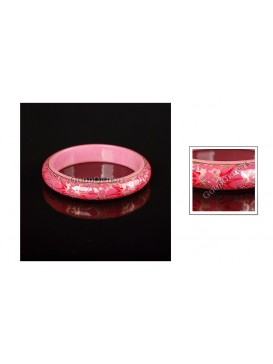 Sweet Pink Candy Wooden Bangle