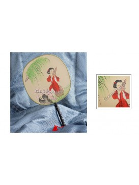 Round Palace Silk Fan---Sing a Spring Song