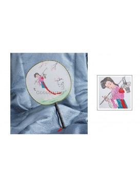 Round Palace Silk Fan---Lin Daiyu