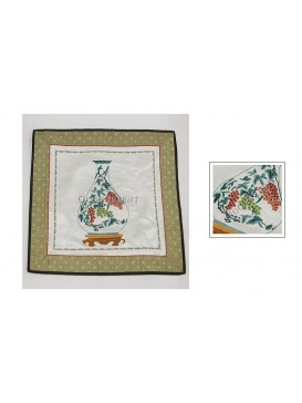 Chinese Grape Vase Hand Embroidery