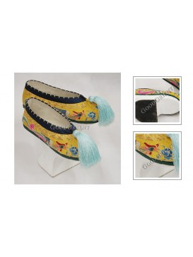 Magnificent Hand Embroidered Phoenix Queen/Princess Manchu Shoes