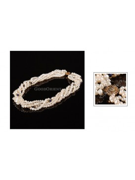 Sun Closure White Pearl Necklace