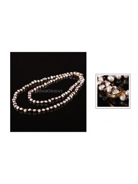 Two Ways Pearl & Garnet Necklace