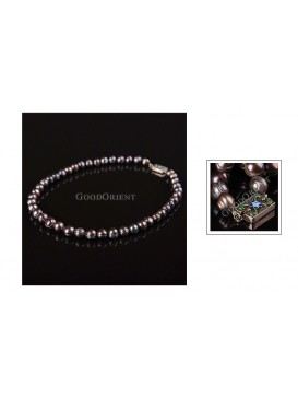 Black Round Trumpet Shell Pearl Necklace