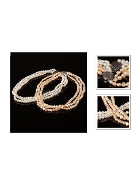 Good Fortune White Pearl Necklace