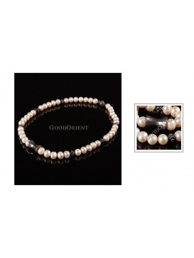 Bardian Alloy & White Pearl Necklace