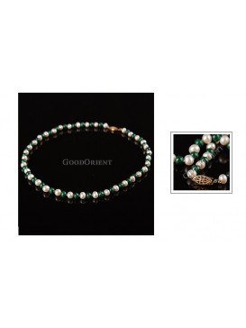 Jade & Moon White Pearl Necklace
