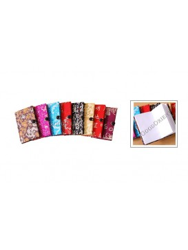 Small Button Brocade Notebook