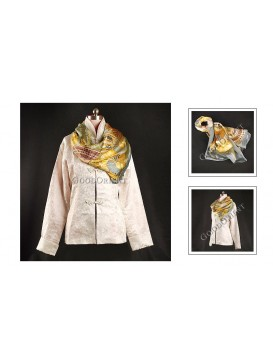 Yellow Square Silk Scarf