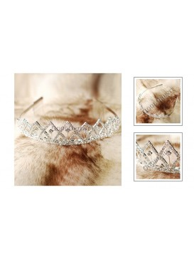 Shining Crystal And M Abstract Geometric Tiara