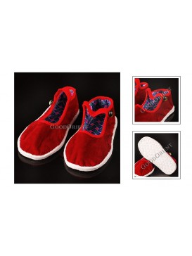 Red Soft Sole Handmade Shoes