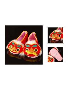 Red Soft Sole Handmade Tiger Shoes