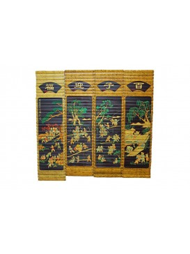 Bamboo Screen-One Hundred Happy Children