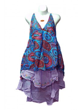 Nepal-style Cool Ruffle Mini Dress
