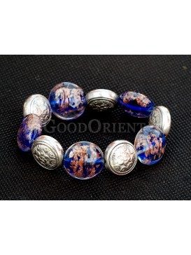 Colored Stones And Silver Bracelet