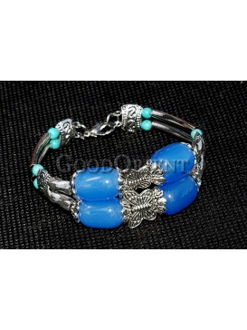 Dazzling Beads And Tibetan Silver Bracelet
