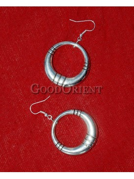 Round Ring Silver Earrings