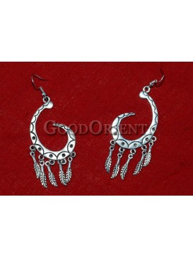 Chic Curved Hook Silver Earrings