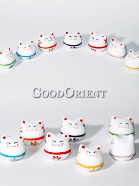 Fortune Cats In Different Colors-Key Chains