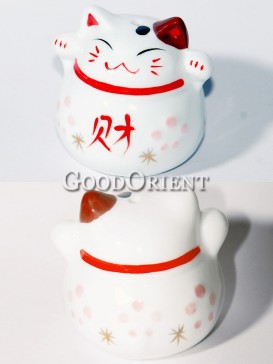 Porcelain Maneki Neko-Wealth
