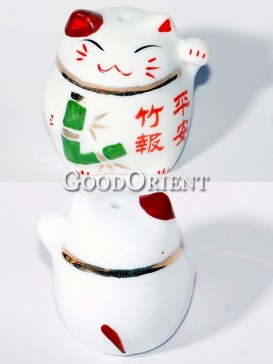 Porcelain Maneki Neko-Peace