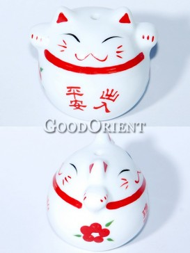 Porcelain Maneki Neko-All Is Well