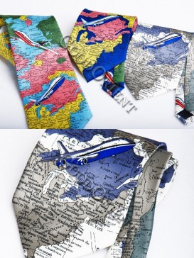 Map Pure Silk Tie