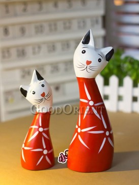 Mother and baby Cat Decoration