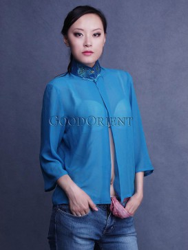 Blue Dreaming Georgette Blouse