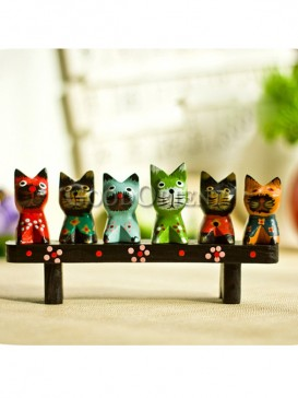The Six Brother Cats Decoration