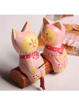 Lovely Pink Fishing Cat Decoration