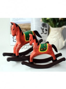 Red Wooden Rocking Horse Decoration