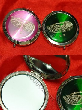 The Bird's Nest Pink And Green Classical Mirror