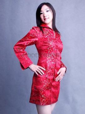 Chinese Red Small Flower Jacket
