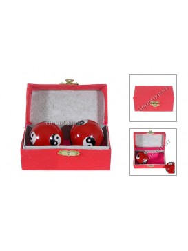 Healthy Red Cloisonne Hand-ball