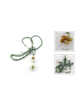 Pure Yulan Flower Jade Necklace