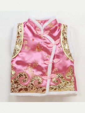 Pink Dragon And Phoenix Waistcoat