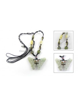 Elegant Butterfly Jade Necklace