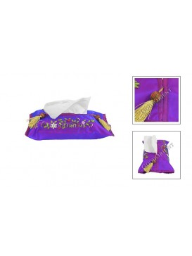 Handsewing Flower Tissue Cover---Purple