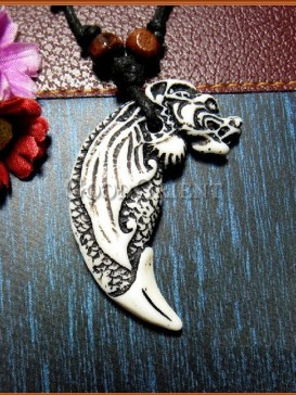 Pirates of the Caribbean series Ox Horn necklace-Dragon